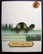 quilled turtle card