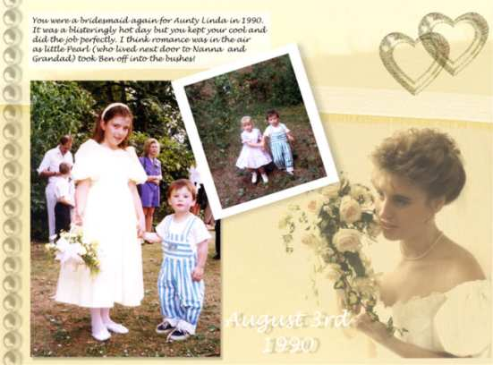 lindaswedding 29K For this layout I started by scanning in a piece of