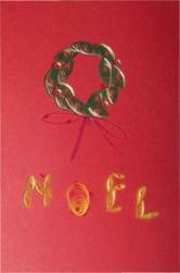 quilled Christmas card Noel wreath
