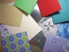 assorted crafting paper