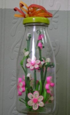Paper Quilling Art In A Bottle