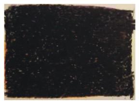 black layer of crayon