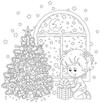Elevate a Kids Coloring Book Picture with Glued on Textures