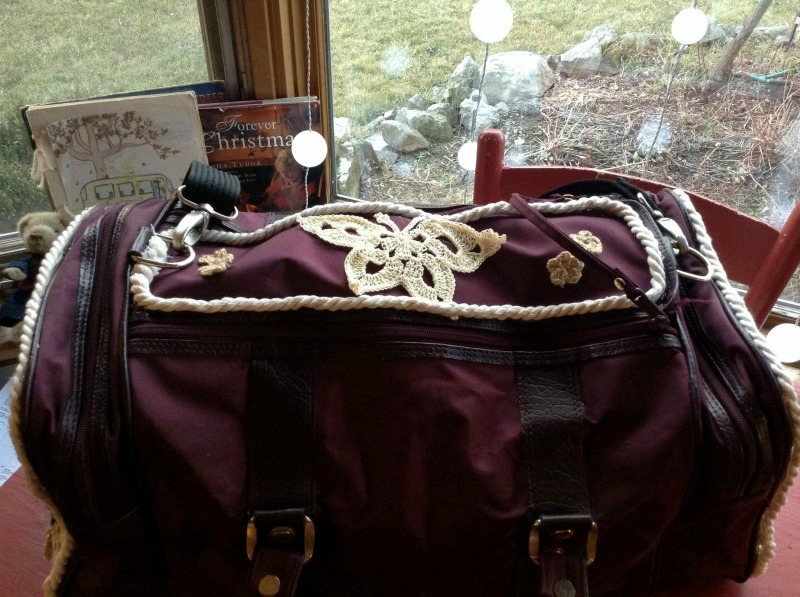 Top View of Decorated Gym Bag