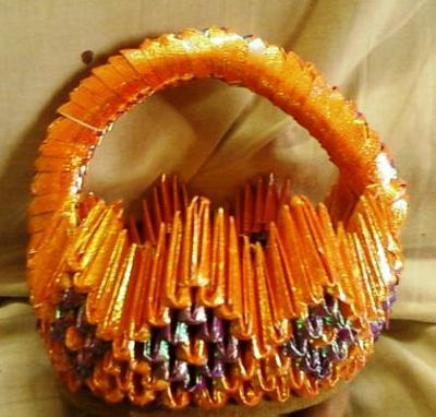 3d Origami Gift Basket