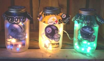 Lighted Mason Jars by Jim's Custom Crafts